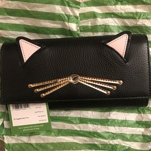 NWT Kate Spade Cat wallet